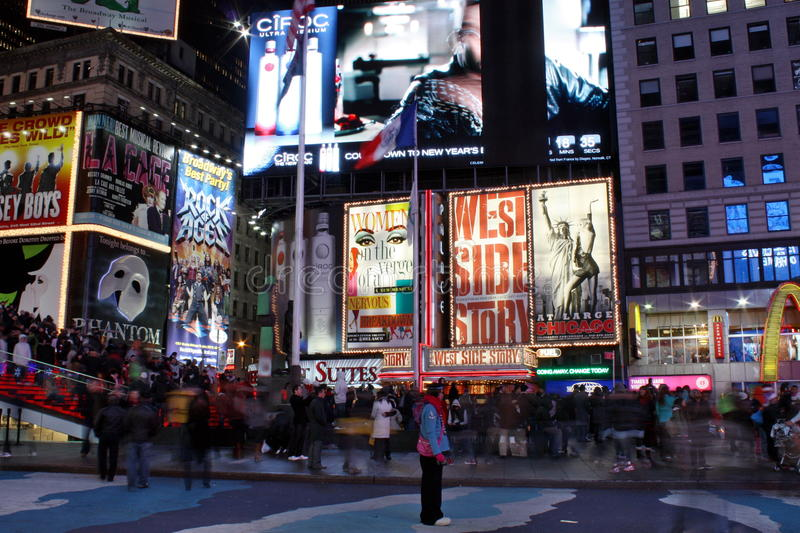 Download Times Square in NYC editorial photography. Image of drive - 17639107