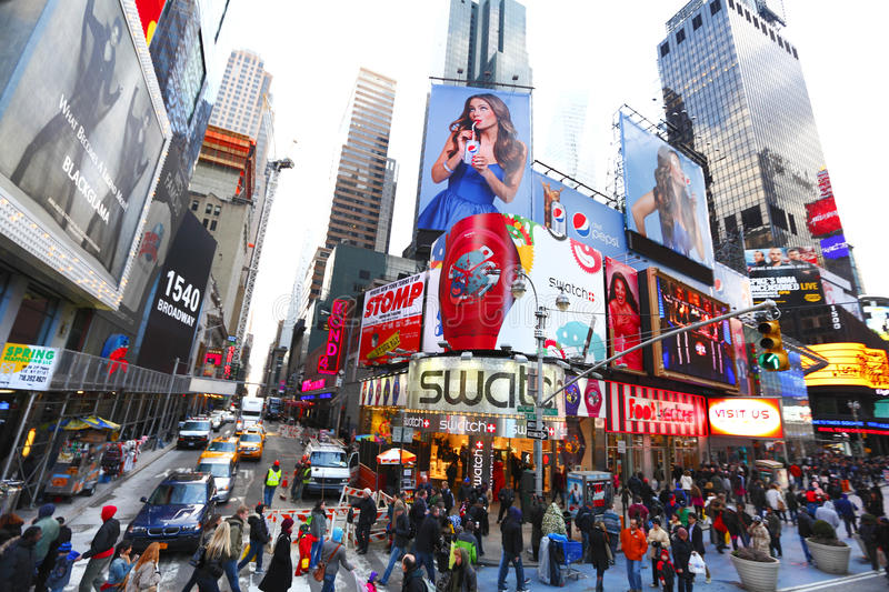 Download Times Square NYC editorial photography. Image of square - 24640282
