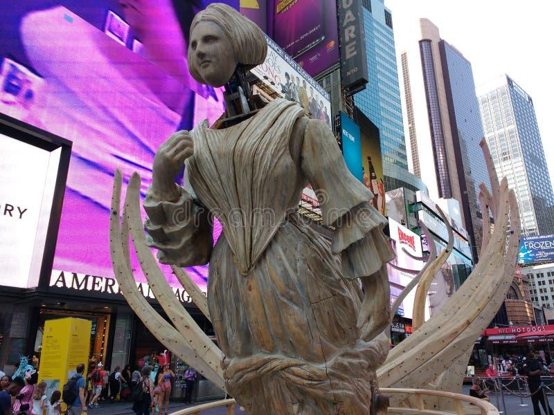 Times Square NYC Art Exhibition, Mel Chin: På hela platsen vak arkivfoto