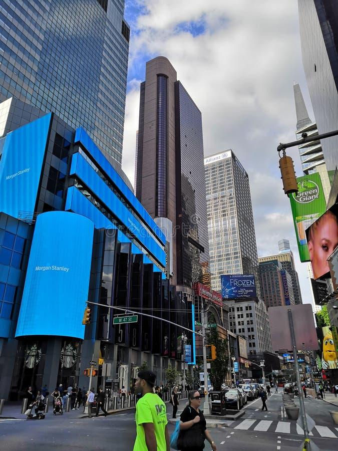 Times Square nyc 2018 lizenzfreie stockfotografie