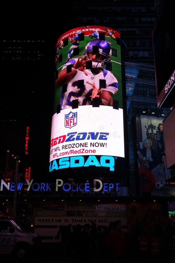 Times Square NYPD NASDAQ lizenzfreies stockfoto