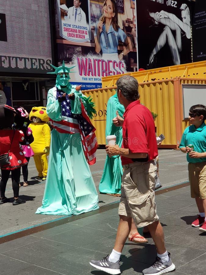 Times Square occupé à New York City photographie stock