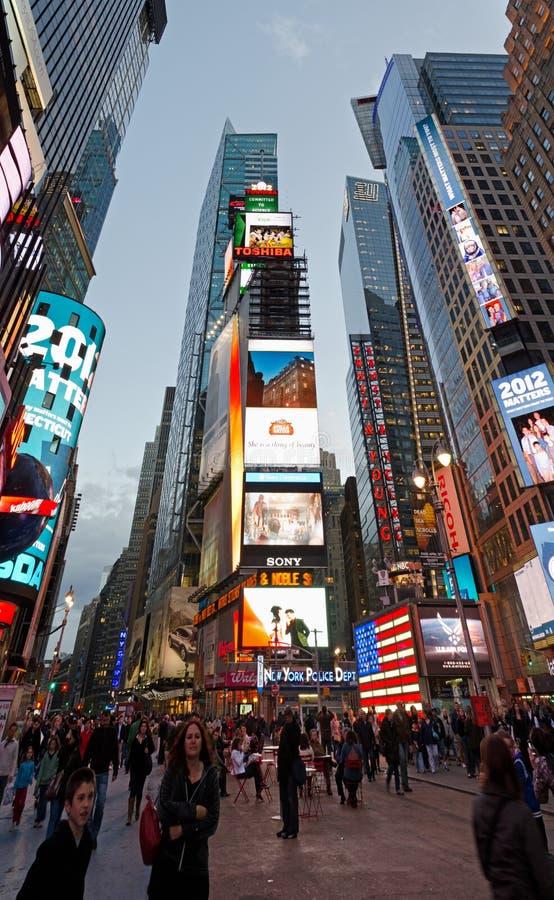 Times Square Panorama stock image