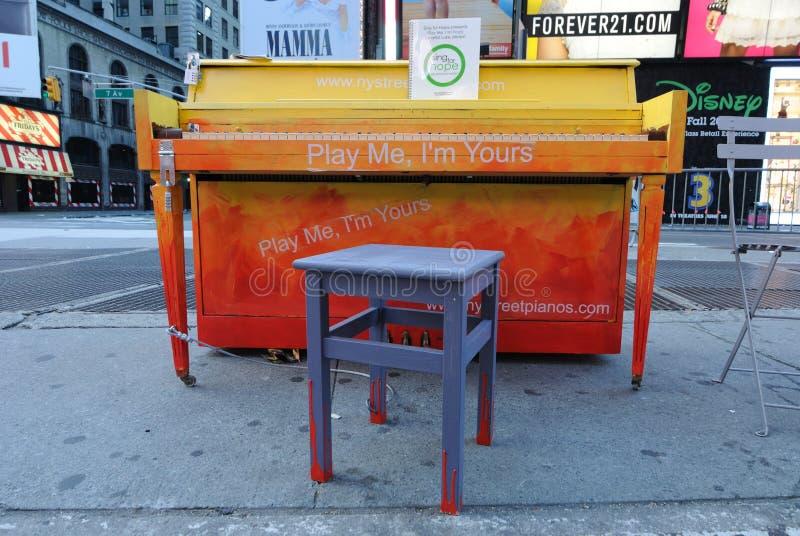 Times Square Piano Editorial Stock Photo