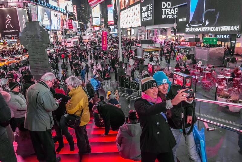 Times Square Selfie stockbild