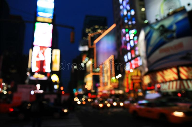 The Times Square -special effect stock images