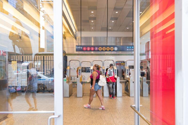 Times Square stacja metru w Miasto Nowy Jork obraz royalty free