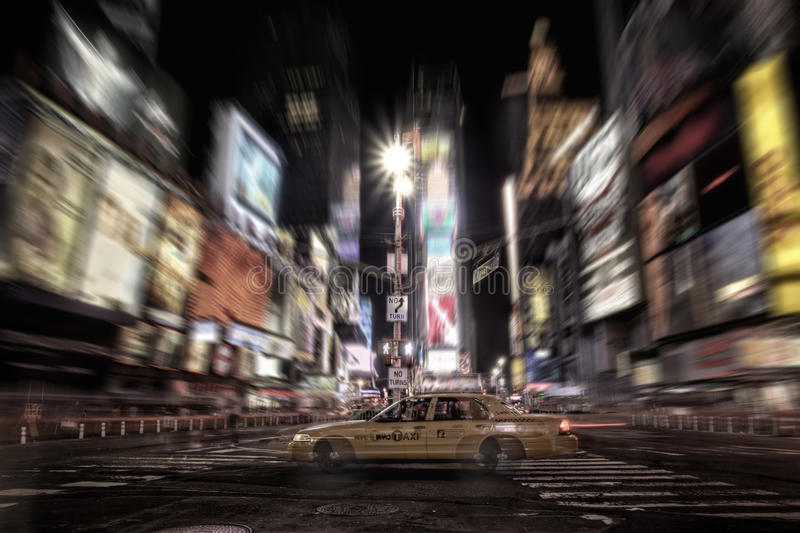 Times Square taxi stock photos