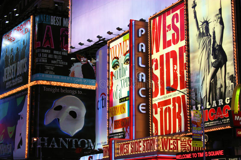 Times Square Theater District royalty free stock photo