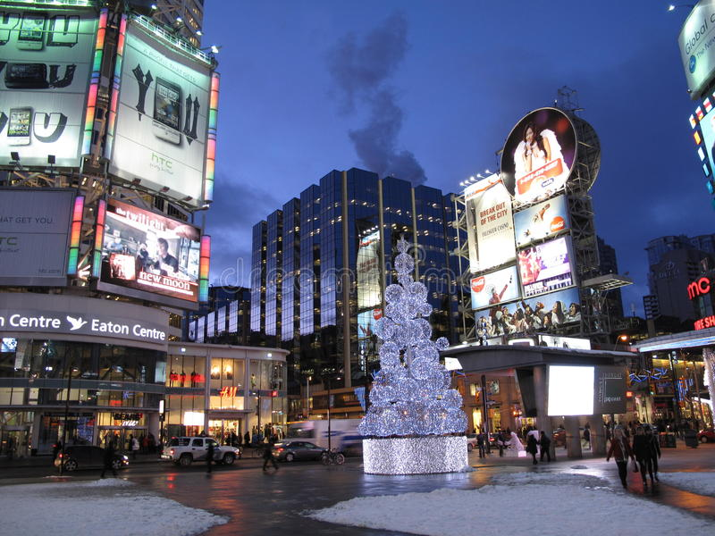 Times Square of Toronto royalty free stock photography