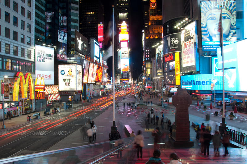 Download Times square tourist spot editorial stock image. Image of light - 14062689