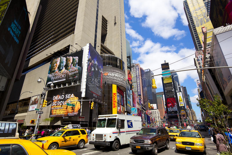 Times Square traffic royalty free stock images