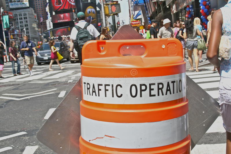 Times Square Traffic Cone royalty free stock photos