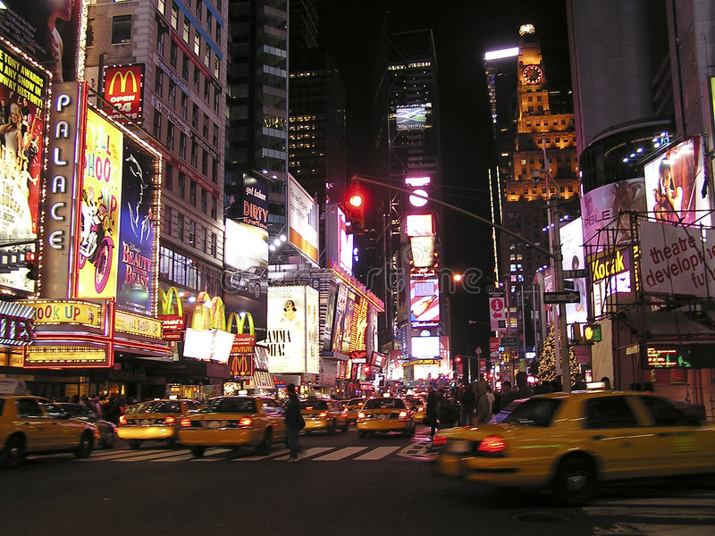 Times Square van New York stock foto's