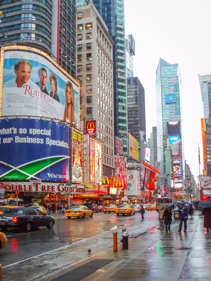Times Square in Verenigde Staten stock foto's