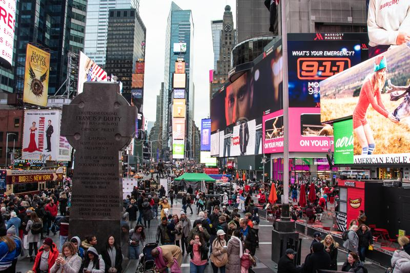 Times Square view stock images