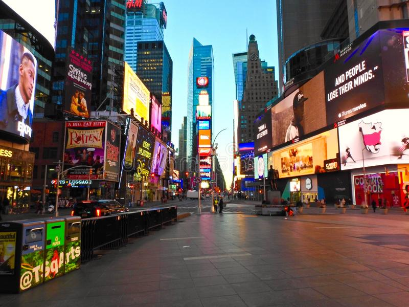Times Square vuoto immagine stock