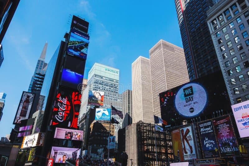 Times Square w Miasto Nowy Jork, usa zdjęcia royalty free