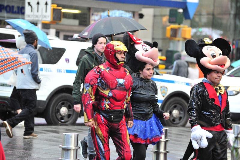 Times Squarehuskers stock foto