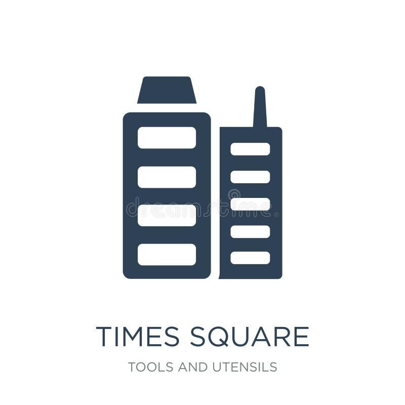 Times- Squareikone in der modischen Entwurfsart Times- Squareikone lokalisiert auf weißem Hintergrund Times- Squarevektorikone ei lizenzfreie abbildung