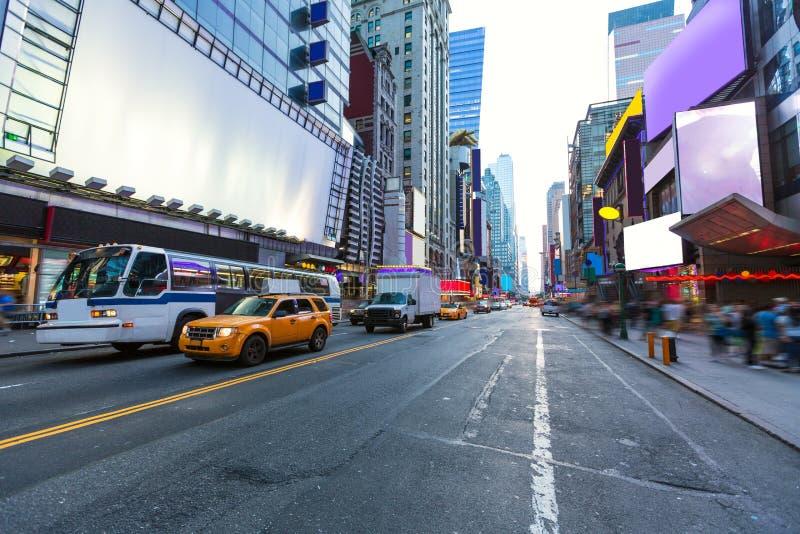 Times SquareManhattan New York borttagna annonser royaltyfria foton