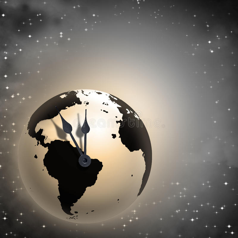 Times almost up Earth vector illustration