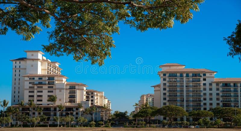 Timeshare beach resort stock images
