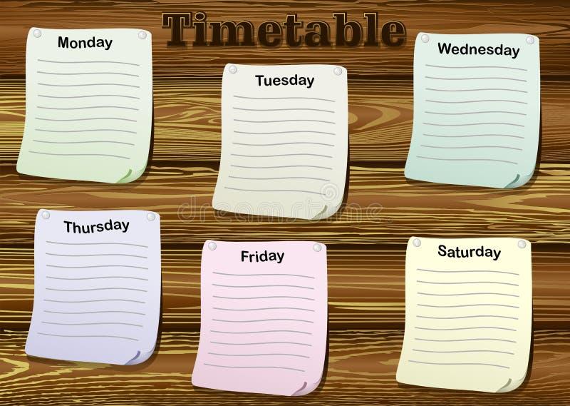 timetable ilustração stock