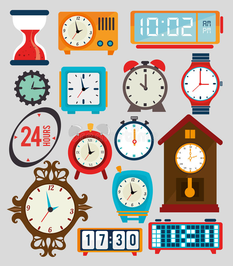 Timewatch design. Timewatch over gray background vector illustration stock illustration