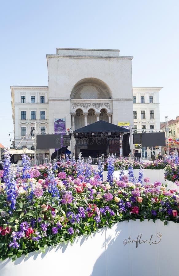 Timfloralis - The Flowers Festival, Timisoara, Romania stock photography