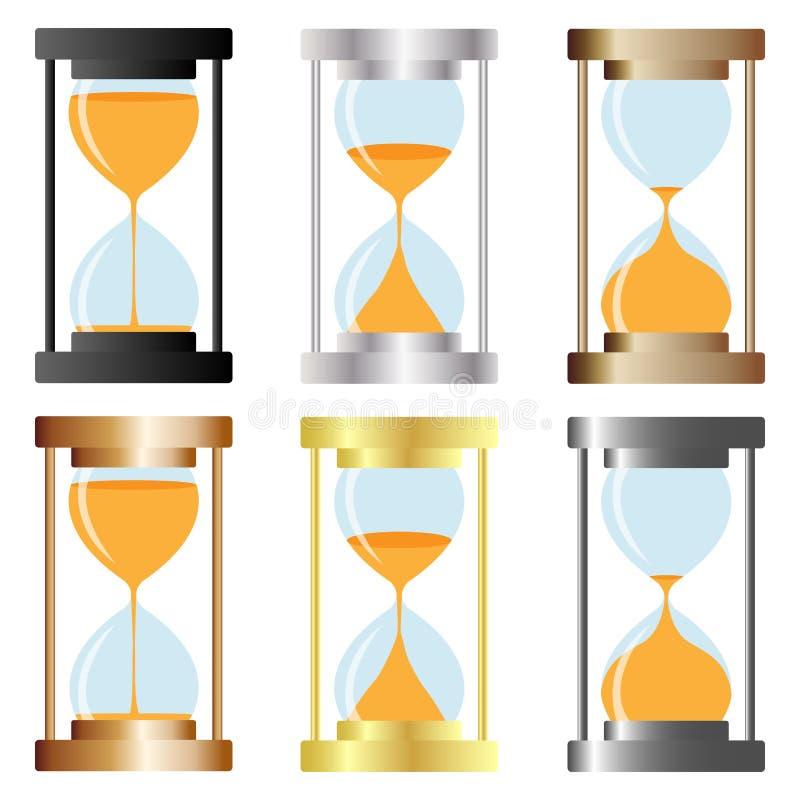 timglas vektor illustrationer