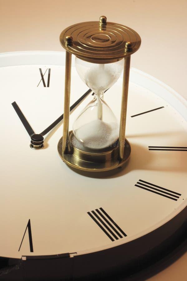 Timglas på klockan royaltyfri bild