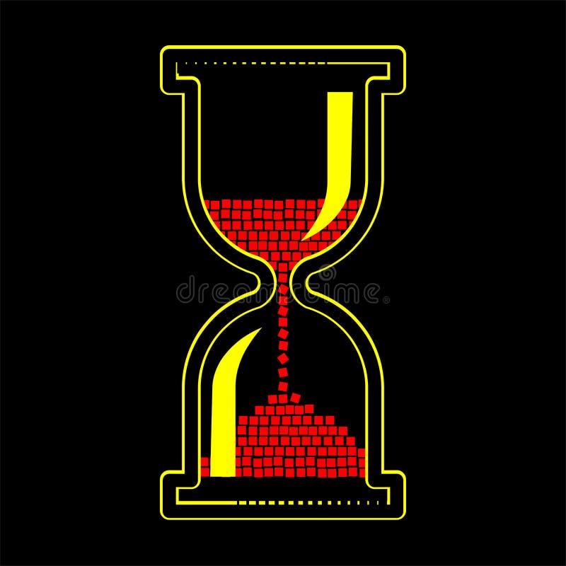 Timglaslogo i vektor vektor illustrationer