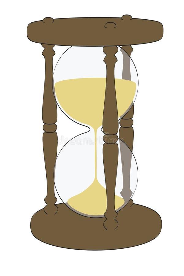 Timglasobjekt vektor illustrationer
