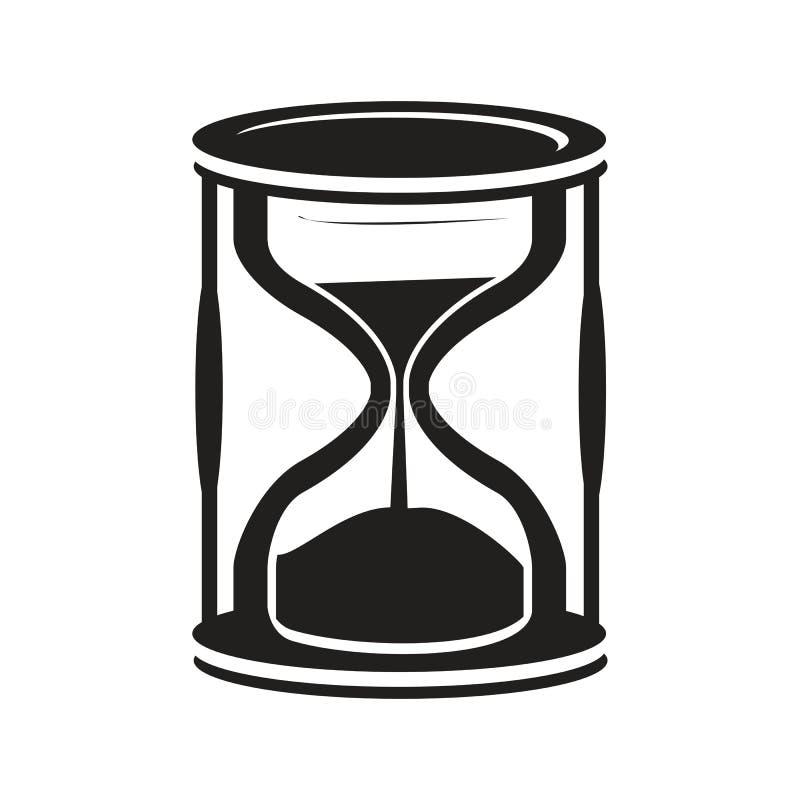 Timglassymbol vektor illustrationer