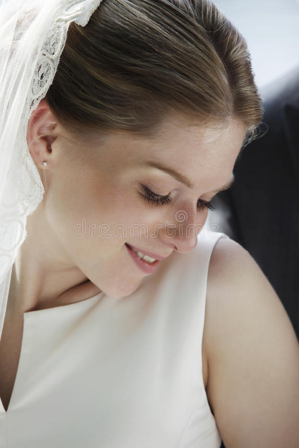 Timid Bride Stock Photography
