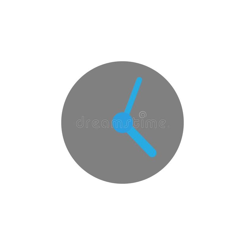 Timing and clock icon. Element of user interface icon for mobile concept and web apps. Detailed Timing and clock icon can be used vector illustration