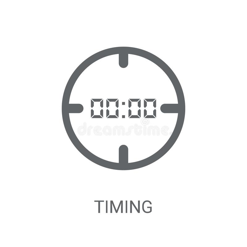 Timing icon. Trendy Timing logo concept on white background from stock illustration