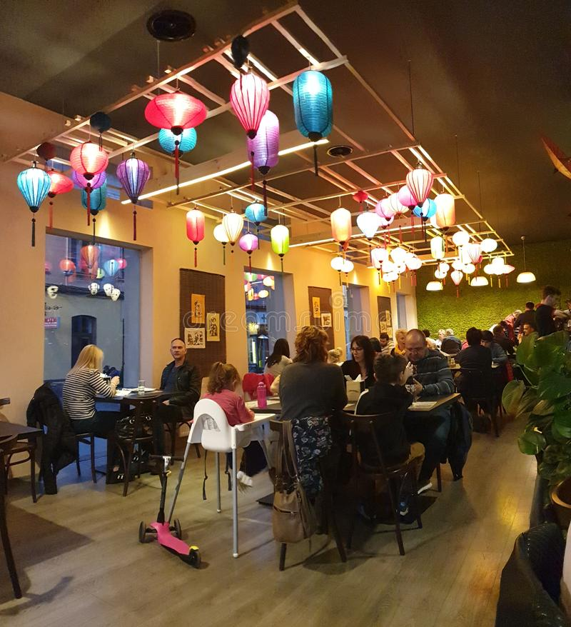 timisoara罗马尼亚泰国食物的一点河内餐馆 免版税图库摄影