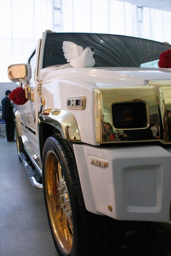 TIMISOARA, αυτοκίνητο πολυτέλειας της ΡΟΥΜΑΝΙΑΣ â€ «cca 2012 άσπρο για τα ιδιωτικούς γεγονότα ή τους γάμους στοκ φωτογραφία με δικαίωμα ελεύθερης χρήσης