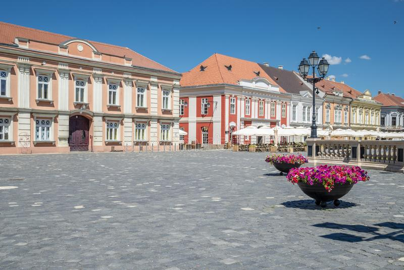 Timisoara beautiful town in Romania. The city centre of beautiful town in Romania - Timisoara royalty free stock photos