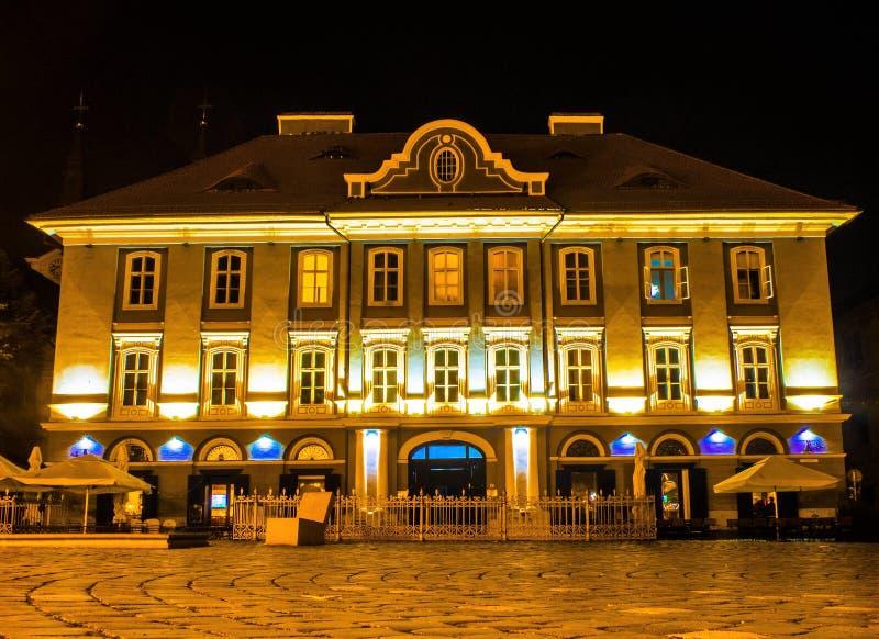 Timisoara bis zum Nacht 5 stockfoto