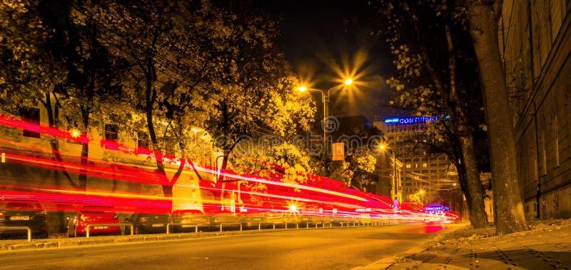 Timisoara bis zum Nacht 2 lizenzfreies stockbild