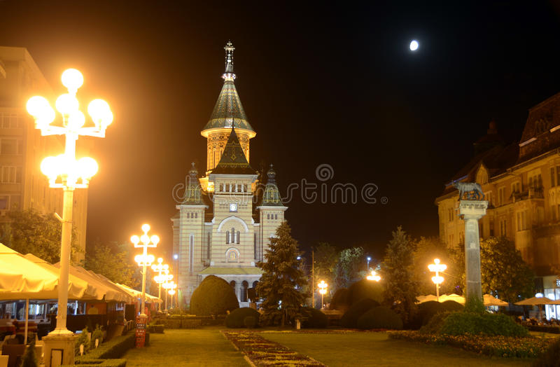 Timisoara cathedral. Orthodox cathedral in center of Timisoara stock photography