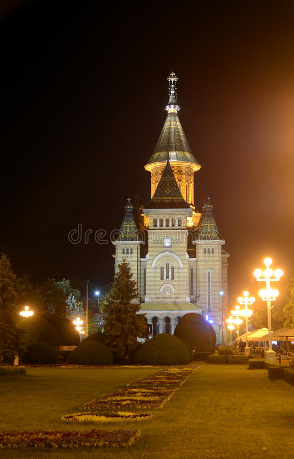 Timisoara Cathedral Alley Royalty Free Stock Photo