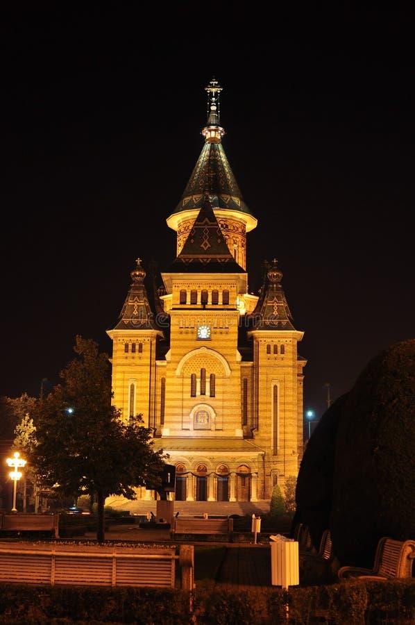 Timisoara cathedral stock image