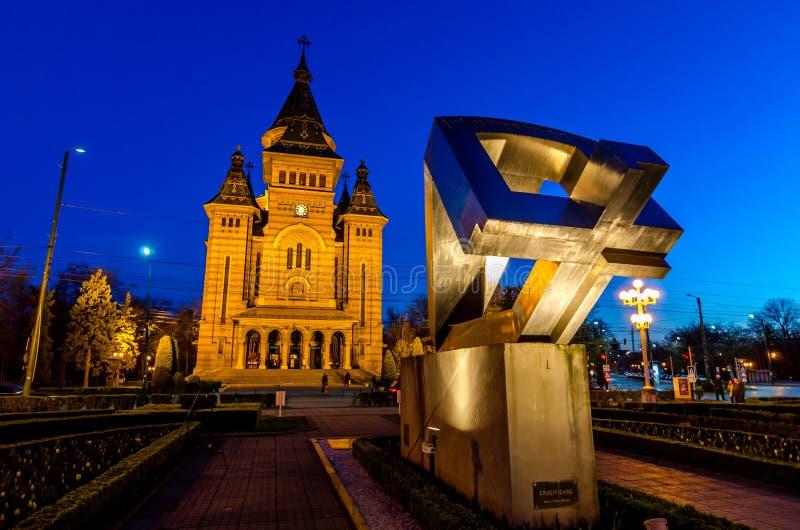Timisoara Cathedral stock photo