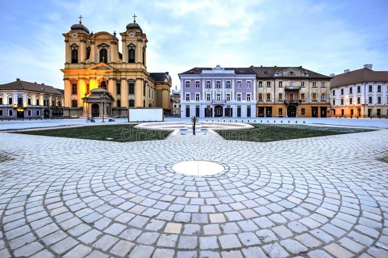 Timisoara city, Romania. Union square or Unirii Square is the main square of the city of Timisoara, Romania stock photos