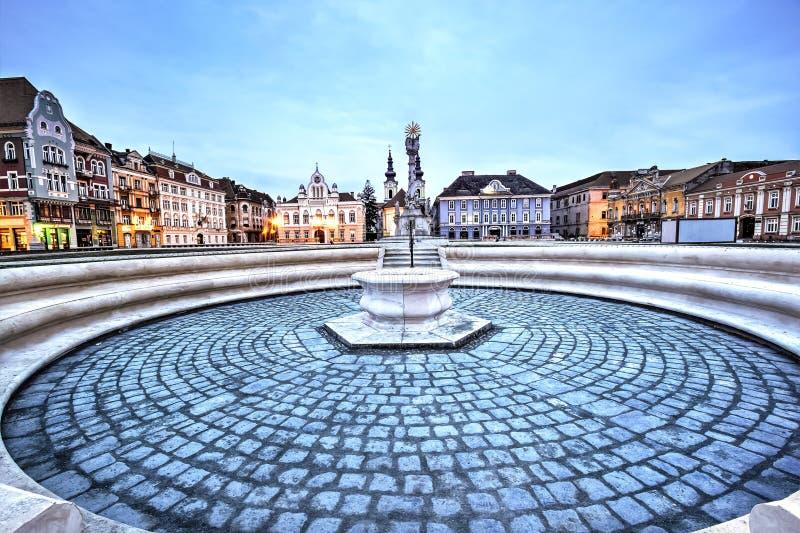 Timisoara city, Romania. Union square or Unirii Square is the main square of the city of Timisoara, Romania stock photography