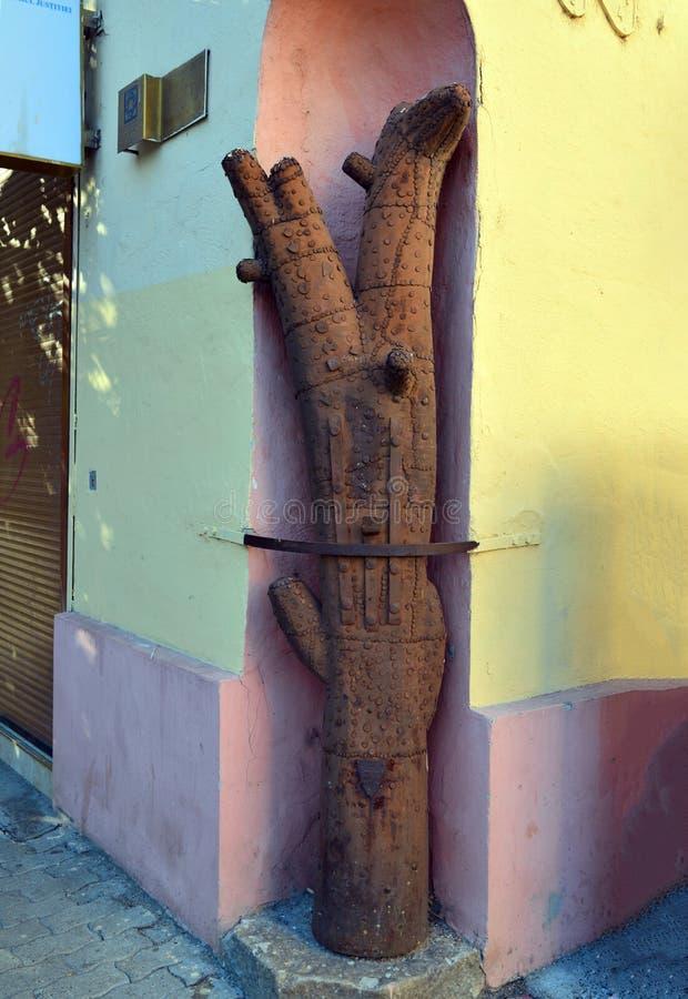 Timisoara Iron Tree. Timisoara city Romania Iron Guild Tree ancient symbol stock image